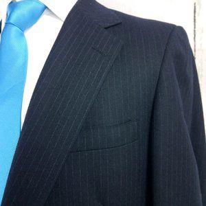 Downing Street Blue Striped Suit Blazer Sport Coat